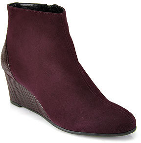 Aquatalia by Marvin K Jojo - Burgundy Suede Wedge Bootie