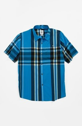 Volcom 'Hammond' Short Sleeve Woven Shirt (Big Boys)