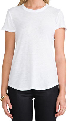 James Perse Sheer Slub Crew Neck Tee
