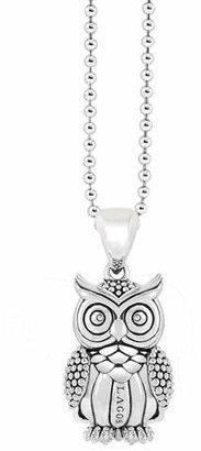 Lagos Rare Wonders Owl Pendant Necklace