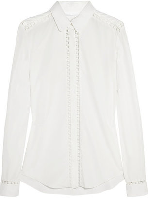 Chloé Embroidered cotton shirt