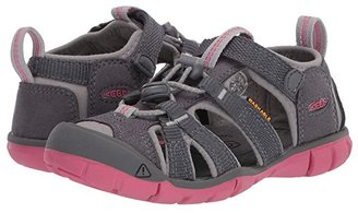 KEEN Kids Seacamp II CNX (Toddler/Little Kid) (Steel Grey/Rapture Rose) Girls Shoes