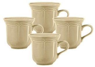 Mikasa French Countryside Tan Tea Cups, Set of 4