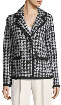 Karl Lagerfeld PARIS Houndstooth Notch Lapel Jacket