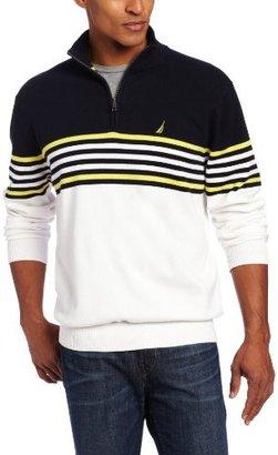 Nautica Men's Main Sail Quarter Zip Sweater