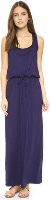 Three Dots Drawstring Maxi Tank Dress $168 thestylecure.com