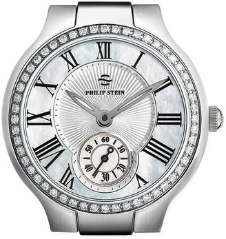 Philip Stein Teslar Small Round Mother-of-Pearl Diamond Watch Head