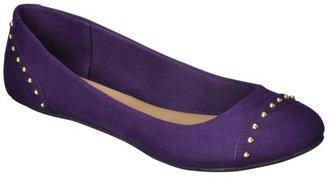 Merona Women's Madeline Ann Studded Ballet Flat - Purple