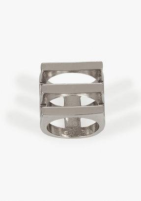 Bebe Geometric Cutout Ring