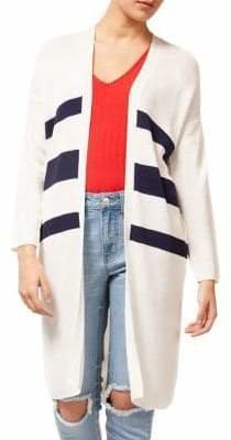 Dex Stripe Long-Sleeve Open Cardigan