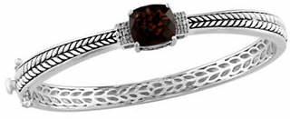 Effy Smoky Quartz 0.06 TCW Diamond Accent Bangle