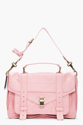 Proenza Schouler Piglet Pink leather foldover PS1 messenger bag