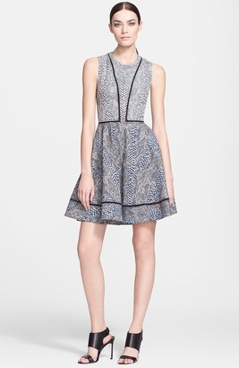 Yigal Azrouel Jacquard Fit & Flare Dress