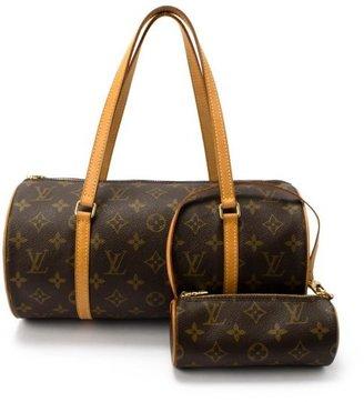 Louis Vuitton brown monogram canvas 'Papillon 30' vintage bag with pouch
