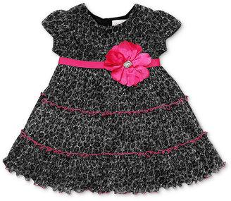 Sweet Heart Rose Baby Dress, Baby Girls Leopard Dress