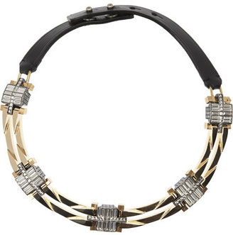 Lanvin Dedale gold-tone crystal necklace