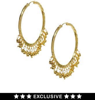 Susan Caplan Vintage Exclusive For ASOS Vintage Ball Drop Hoop Earrings
