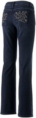 Apt. 9 modern fit embroidered bootcut jeans - women's