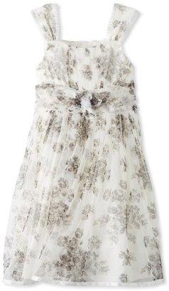 Bonnie Jean Girls 7-16 Black and White Toile Print Dress