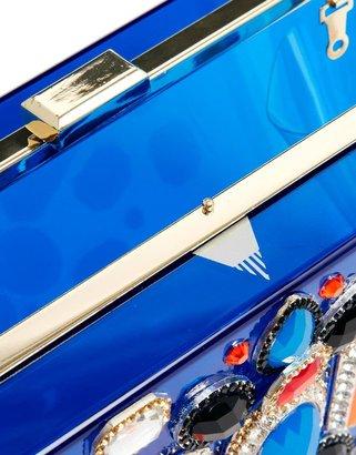 Skinnydip Embellished Box Clutch in Blue