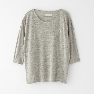 Steven Alan OBJECTS WITHOUT MEANING edie 3/4 linen tee