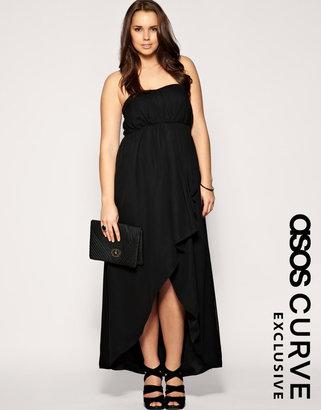 Asos Exclusive Long & Short Bandeau Maxi Dress