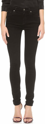 7 For All Mankind The High Waist Slim Illusion Luxe Skinny Jeans $189 thestylecure.com
