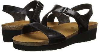 Naot Footwear Pamela (Black Madras Leather) Women's Sandals