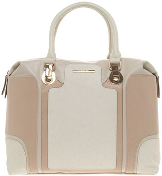 River Island Neutral Snake Color Block Boxy Tote