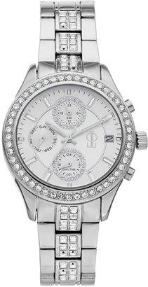 JLO by Jennifer Lopez Women's Crystal Stainless Steel Multifunction Watch
