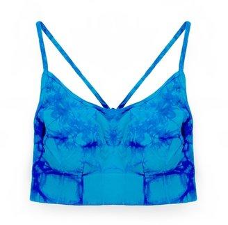 Malibu Sugar - Tween Girl's Tie Dye Bra Cami - Turquoise/Royal 7-14