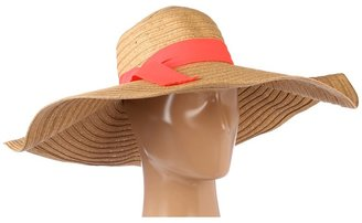 Hat Attack Straw Braid Sunhat W/Grosgrain Ribbon Trim Traditional Hats