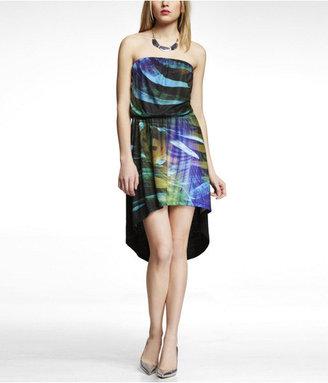 Express Strapless Hi-Lo Hem Knit Dress