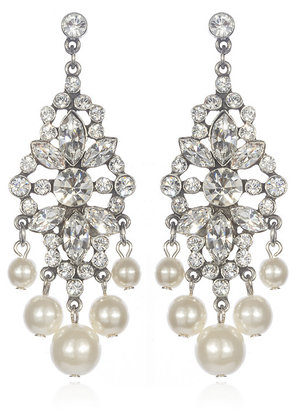 Ben-Amun Pearl and Rhinestone Deco Chandeliers