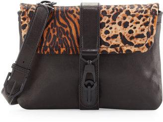Rachel Zoe Goldie Leopard-Print-Flap Crossbody Bag, Leopard