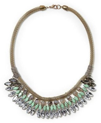 Vince Tinley Road Clear and Mint Faceted Jewel Necklace