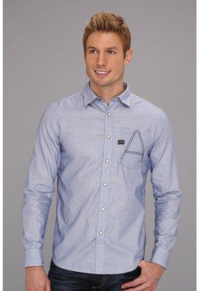 G Star G-Star - A-Crotch L/S Shirt (Mn Reflex Blue) - Apparel
