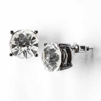 Vera Wang Simply vera jet crystal stud earrings