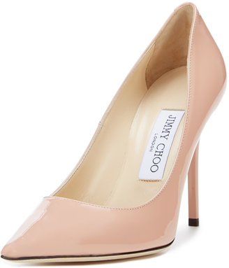 Jimmy Choo Abel Patent Pointed Toe Pump