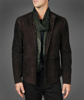 John Varvatos Leather Shirt Jacket
