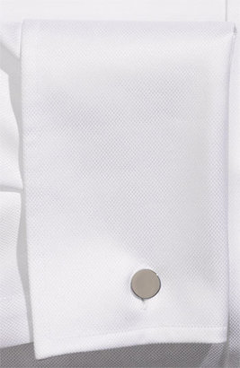 BOSS Men's 'Lawrence' US Regular Fit French Cuff Dress Shirt, Size 15.5 R - Blue