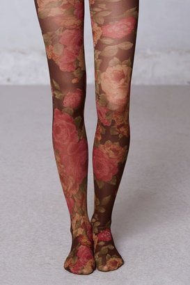 Anthropologie Rose Garden Tights