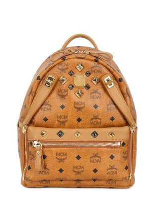 MCM Studded Dual Stark Small Backpack