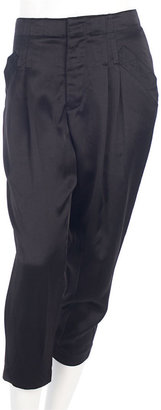 Alexander Wang Cropped Pleated Pant - Black