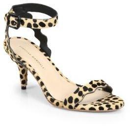 Loeffler Randall Reina Calf Hair Ankle-Strap Sandals