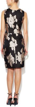 Vera Wang Jacquard Crewneck Sheath Dress