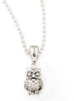 Lagos Rare Wonders Diamond Owl Pendant Necklace