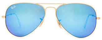 Ray-Ban Aviator Flash Lenses in Blue. $175 thestylecure.com