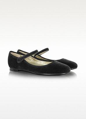 Marc Jacobs Black Velvet Mary Jane Shoes