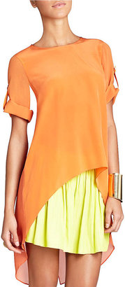BCBGMAXAZRIA Caterina Split-Back Top